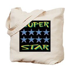 Super Star Golden Tote Bag