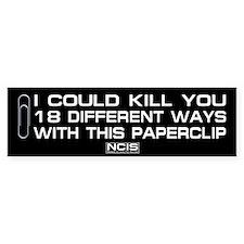 NCIS: Paperclip Bumper Sticker