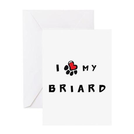 I *heart* My Briard Greeting Card