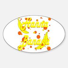 Hanna Banana Sticker (Oval)