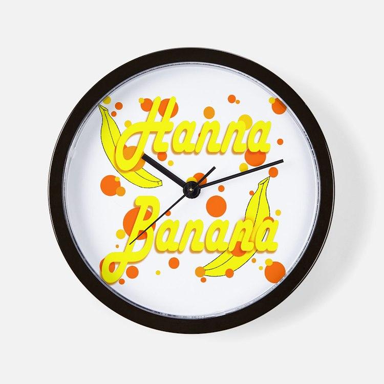 Hanna Banana Wall Clock
