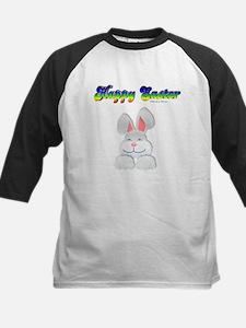 """Happy Easter"" Bunny Kids Baseball Jersey"