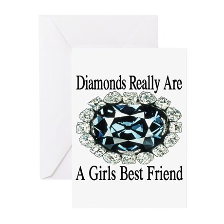 Diamonds are forever Greeting Cards (Pk of 10)