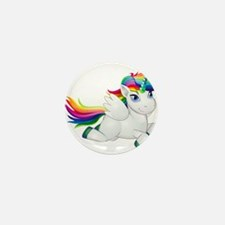 Cute_Rainbow_Pony_PNG_Clip_A Mini Button (10 pack)