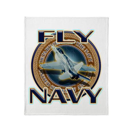 Fly Navy Throw Blanket
