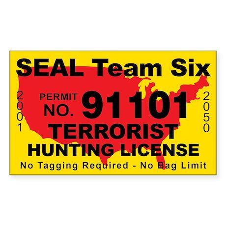 Seal Team Six Terrorist Hunting Stickers