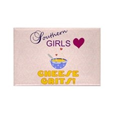 Southern Girls Love Cheese Grits Rectangle Magnet
