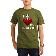I Love My Rescue Dog T-Shirt