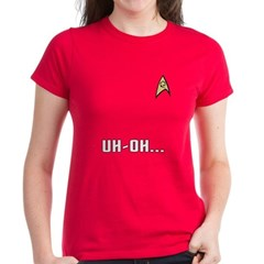 Star Trek Women's Red Shirt: Uh-Oh!