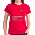 "Star Trek ""Expendable"" Women's Red Shirt"