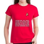 "Star Trek ""Who Dies?"" Women's Red Shirt"
