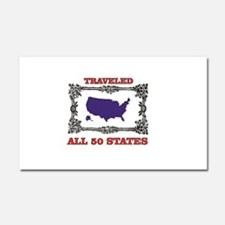 all fifty in blue Car Magnet 20 x 12