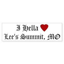 Hella Love Lee's Summit Bumper Bumper Sticker