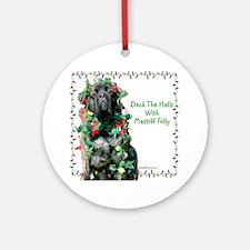 Mastiff XMas 27 Ornament (Round)