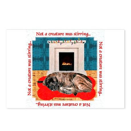 Mastiff XMas 10 Postcards (Package of 8)