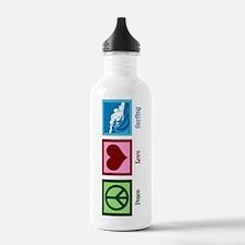 Peace Love Surfing Water Bottle