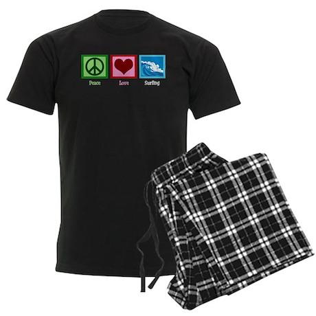 Peace Love Surfing Men's Dark Pajamas