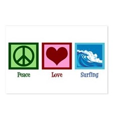 Peace Love Surfing Postcards (Package of 8)