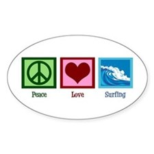 Peace Love Surfing Decal
