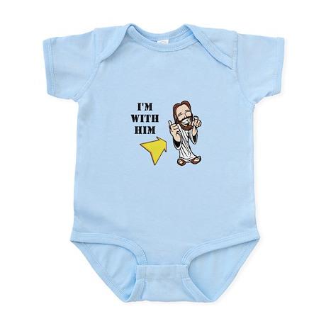 I'm with Him Infant Bodysuit