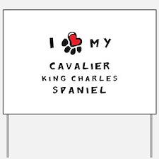 I *heart* My Cavalier Yard Sign