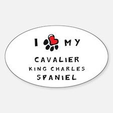 I *heart* My Cavalier Sticker (Oval)