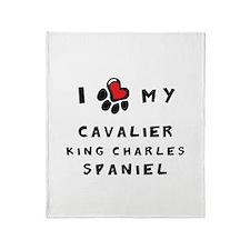 I *heart* My Cavalier Throw Blanket