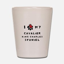 I *heart* My Cavalier Shot Glass