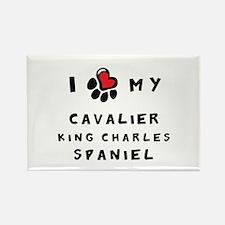 I *heart* My Cavalier Rectangle Magnet