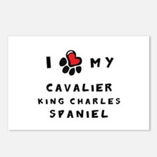 I *heart* My Cavalier Postcards (Package of 8)