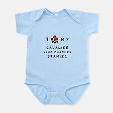 I *heart* My Cavalier Infant Bodysuit