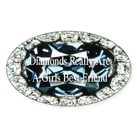 Diamonds are forever Sticker (Oval)