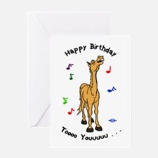 Singing Pony Birthday Card