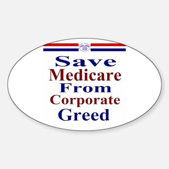 Save Medicare Sticker (Oval)