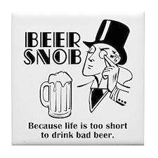Beer Snob Tile Coaster