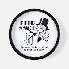 Beer Snob Wall Clock