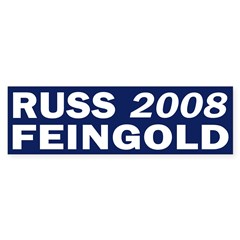 Russ Feingold 2008 blue bumper sticker