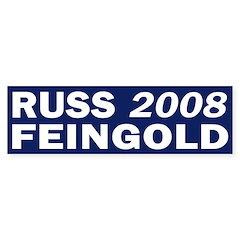 Russ Feingold 2008 blue bumper sticker