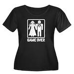 Game Over Women's Plus Size Scoop Neck Dark T-Shir