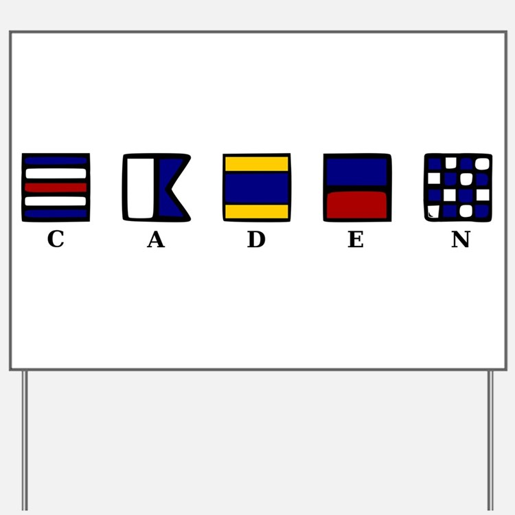 Nautical Caden Yard Sign