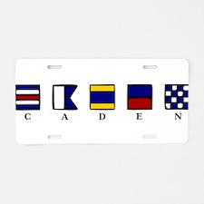 Nautical Caden Aluminum License Plate