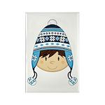 Cute Kid in Wooly Hat Magnet (100 Pk)