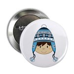 """Cute Kid in Wooly Hat 2.25"""" Button (10 Pk)"""
