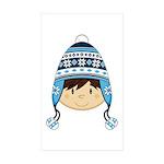 Cute Kid in Wooly Hat Sticker (10 Pk)