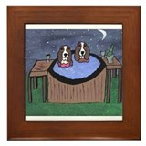Basset hounds Framed Tiles