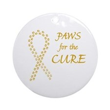 Gold Paws Cure Ornament (Round)