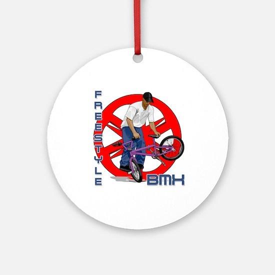 Freestyle BMX Ornament (Round)