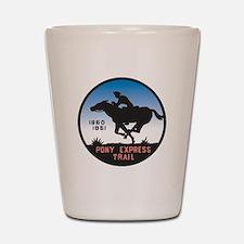 The Pony Express Shot Glass