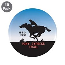 "The Pony Express 3.5"" Button (10 pack)"