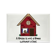 Funny Dog home Rectangle Magnet